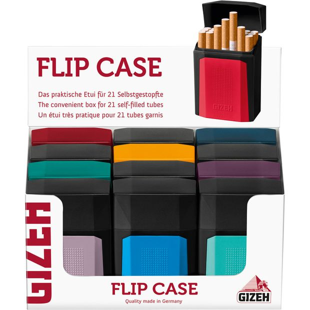 Gizeh Flip Case Box for self-filled cigarette tubes