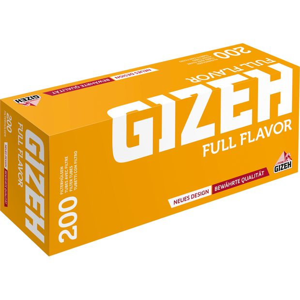 Gizeh Full Flavor Filter Tubes Box of 200