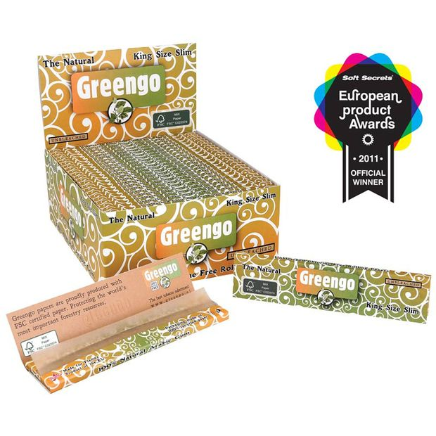 Greengo King Size Slim unbleached Papers