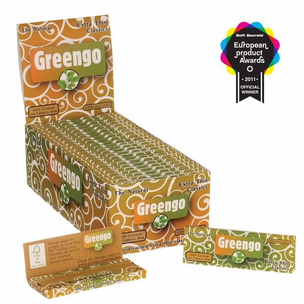 Greengo Extra Thin Classics regular unbleached Papers