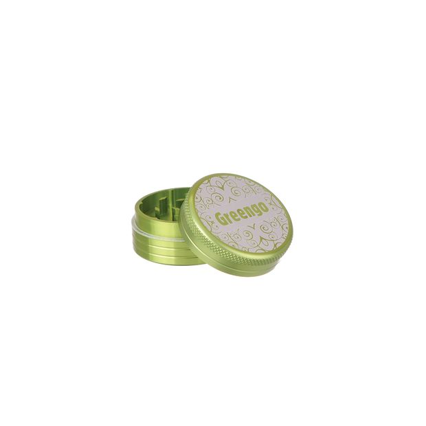 Greengo Grinder 2 Parts 50mm Metal green