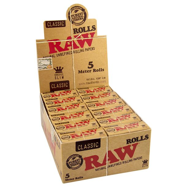 RAW Classic Rolls Slim 5m length unbleached