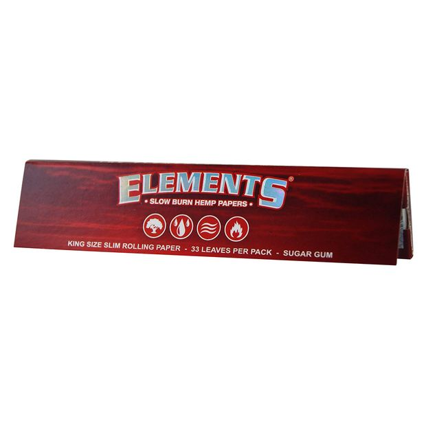 Elements Red King Size Slim Papers aus Hanf