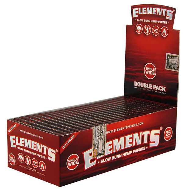 Elements Red Regular Size Papers from Hemp Double Window