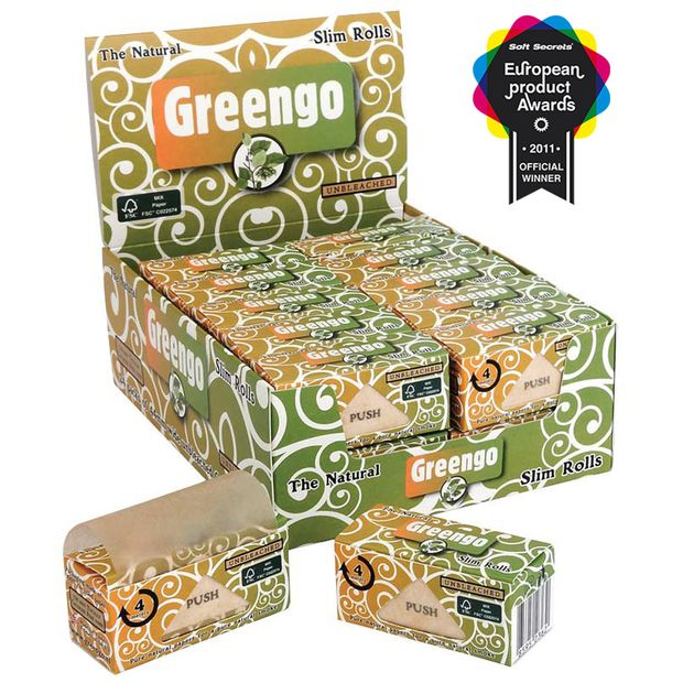 Greengo Slim Rolls 4m unbleached continuous paper