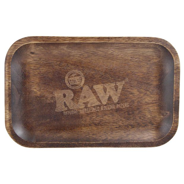 RAW Wooden Rolling Tray small