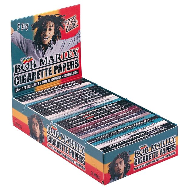 Bob Marley 1 1/4 Medium Size Papers from Hemp