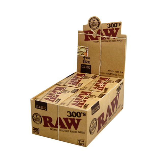 RAW 300s Classic 1 1/4 Medium Size unbleached loose Papers