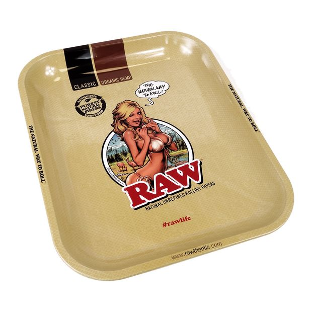 RAW Tray RAW Girl Large Metal Rolling Tray