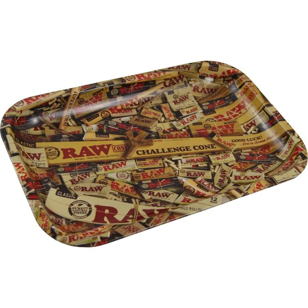 RAW Tray Mixed Products Small Metal Rolling Tray