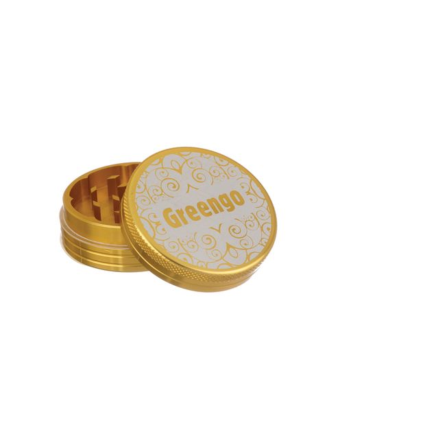 Greengo Grinder 2 Parts 50mm Metal gold
