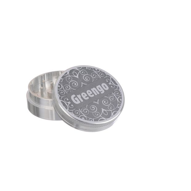 Greengo Grinder 2 Parts 50mm Metal silver