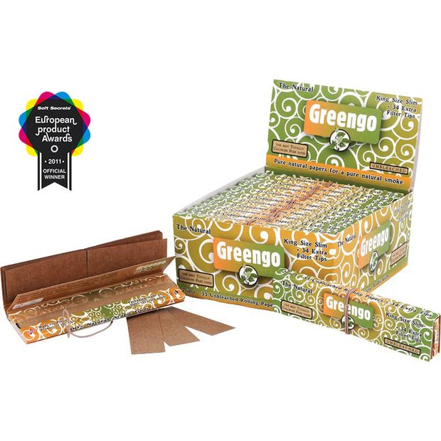 Greengo Kingsize Slim 2in1 ungebleichte Papers + Tips