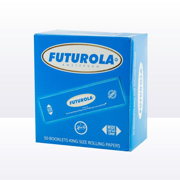 Futurola Blue wide King Size Papers from Amsterdam