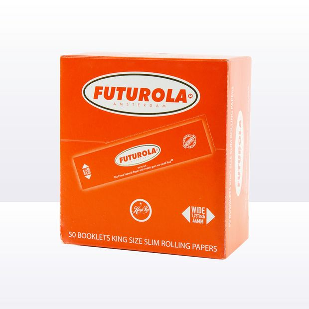 Futurola Orange King Size Slim Papers from Amsterdam