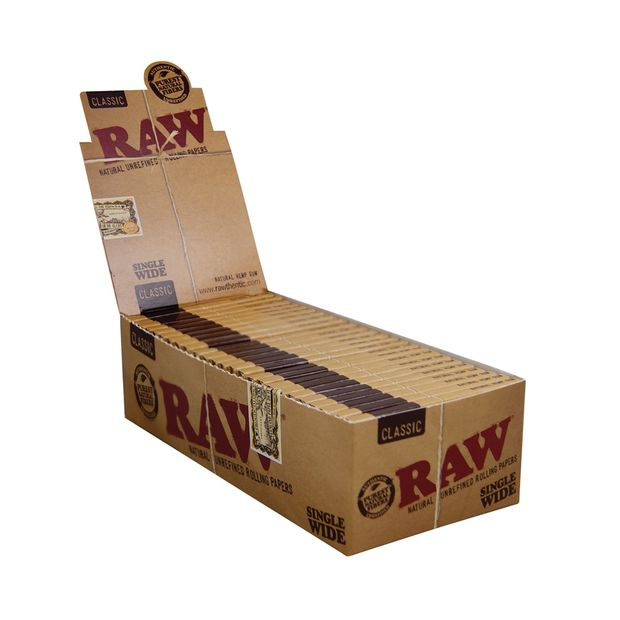 RAW Classic Single Wide regular Papers Double Window 100s