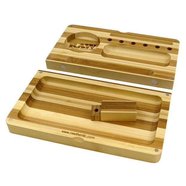 RAW Bamboo Tray Striped Limited Edition magnetic Backflip