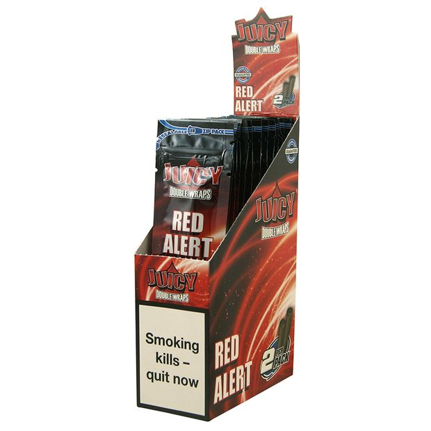 1 Box Juicy Jays Double Blunts RED ALERT (EU Version)