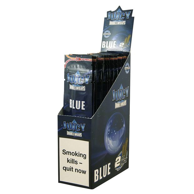 1 Box Juicy Jays Double Blunts BLUE (EU-Version)