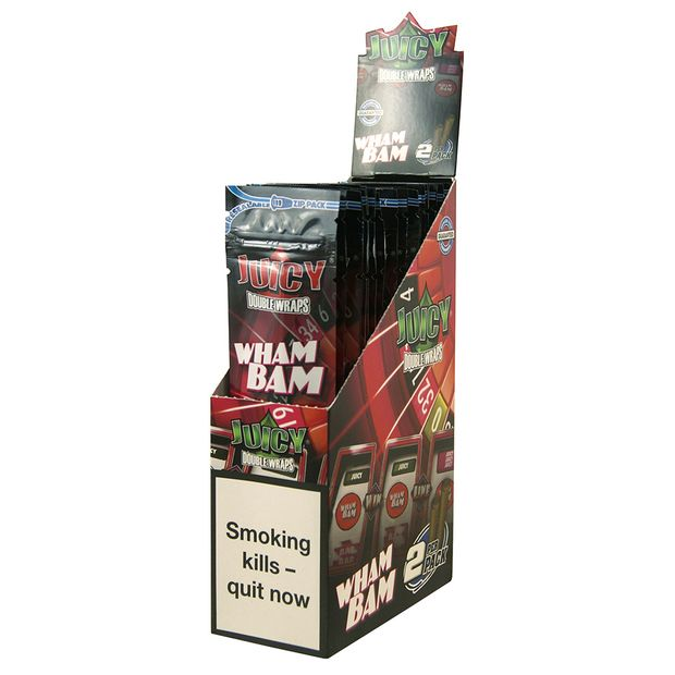 1 Box Juicy Jays Double Blunts WHAM BAM (EU Version)