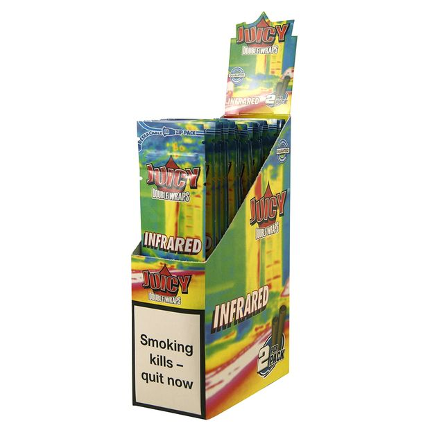 1 Box Juicy Jays Double Blunts INFRARED (EU Version)