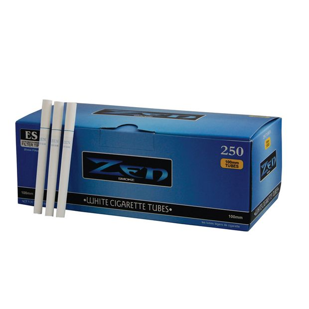 Zen White Filtertubes extra long 100mm Box of 250