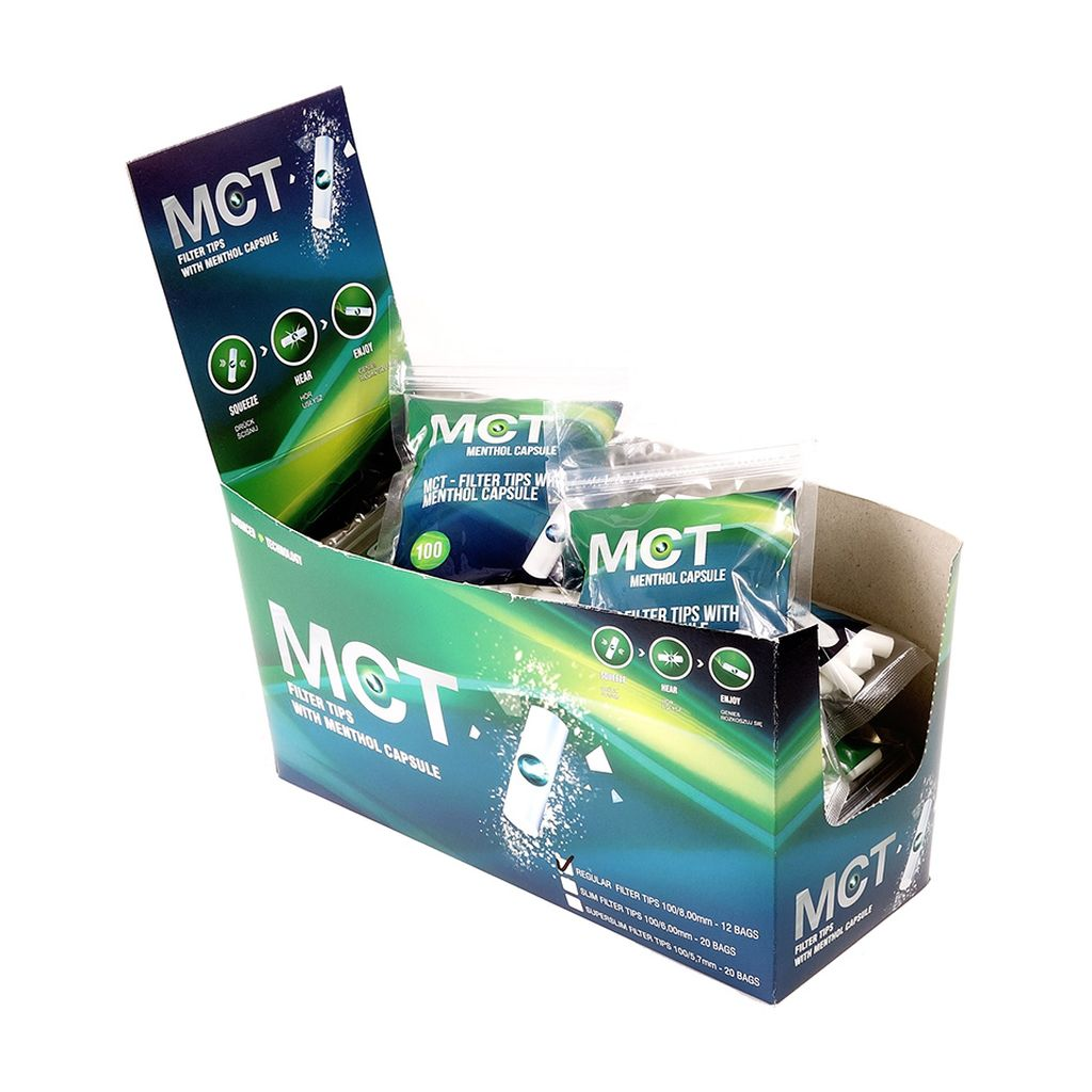 Mct Filters Regular Click Filters With Menthol Capsule