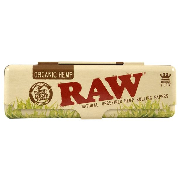RAW Organic Metal Tin Case 110mm for Kingsize Papers