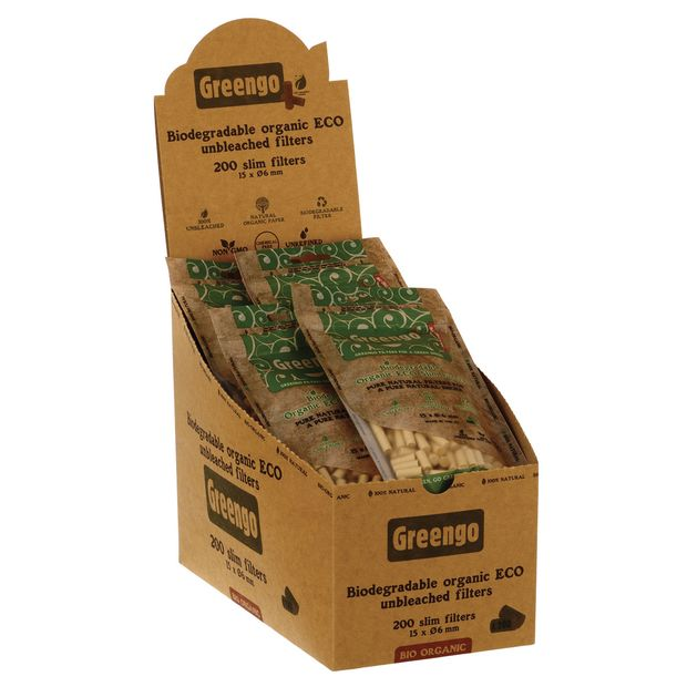 Greengo Organic ECO Filters Slim biodegradable unbleached...