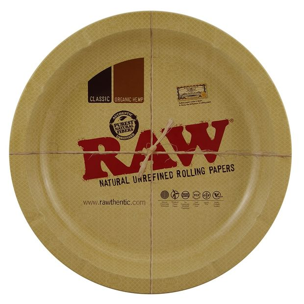 RAW Round Metal Rolling Tray rundes Drehtablett 30,5 cm