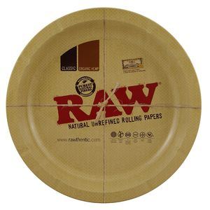 RAW Round Metal Rolling Tray rundes Drehtablett 30,5 cm...