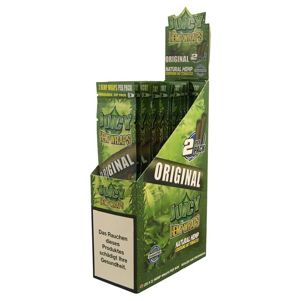 1 Box Juicy Jay Hemp Wraps ORIGINAL no Tobacco