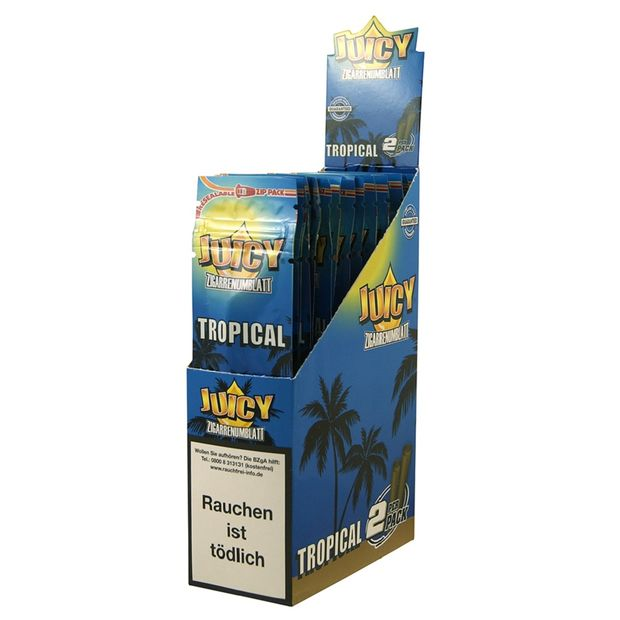 1 Box Juicy Jay Hemp Wraps TROPICAL aus Hanf ohne Tabak