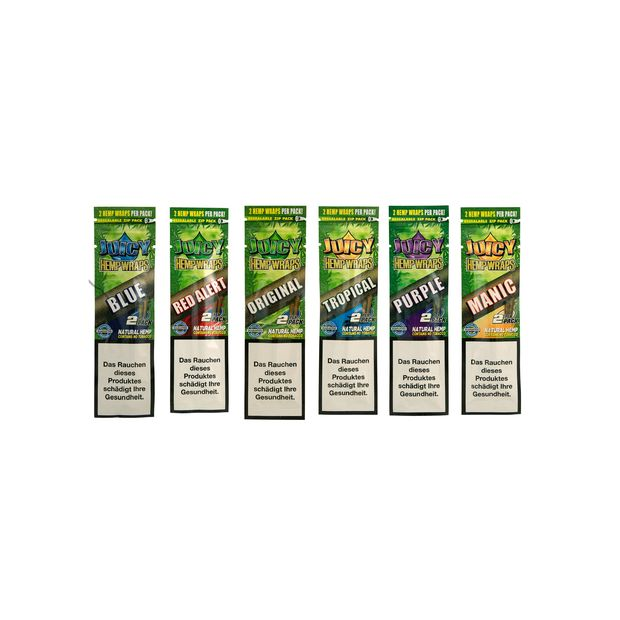 Juicy Jay Hemp Wraps Mix 6 Flavours to choose from