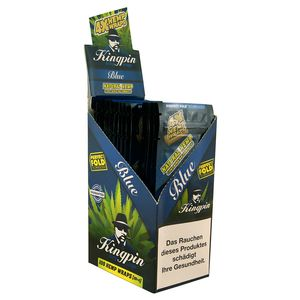1 Box Kingpin Hemp Wraps BLUE aromatisiert aus Hanf