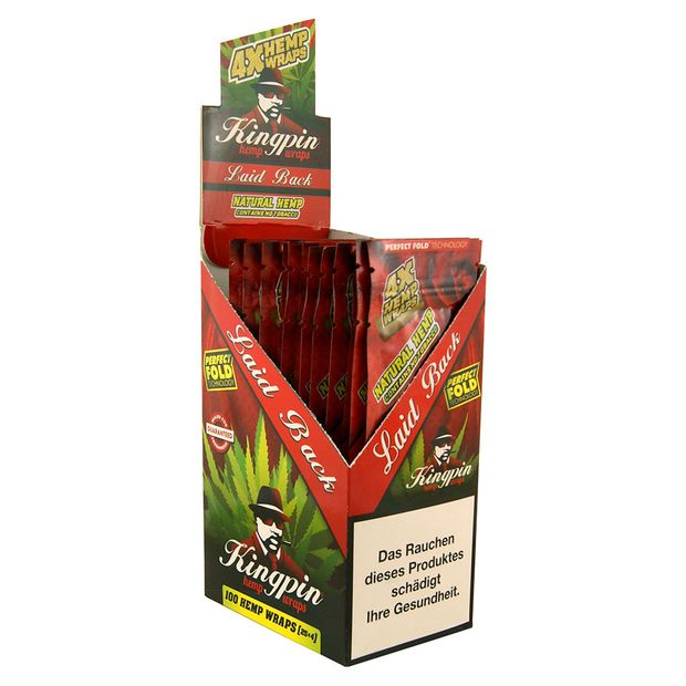 1 Box Kingpin Hemp Wraps LAID BACK aromatisiert aus Hanf