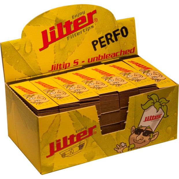 Jilter Filtertips Jiltips S Perfo unbleached and perforated Booklet of 45
