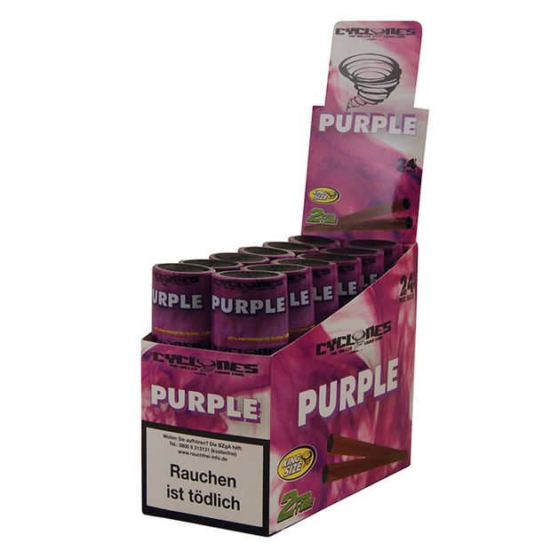 1 Box Cyclones King Size Cones PURPLE pre-rolled flavoured