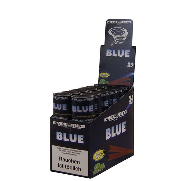 1 Box Cyclones King Size Cones BLUE pre-rolled flavoured