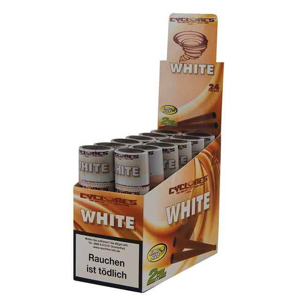1 Box Cyclones King Size Cones WHITE  vorgerollt...