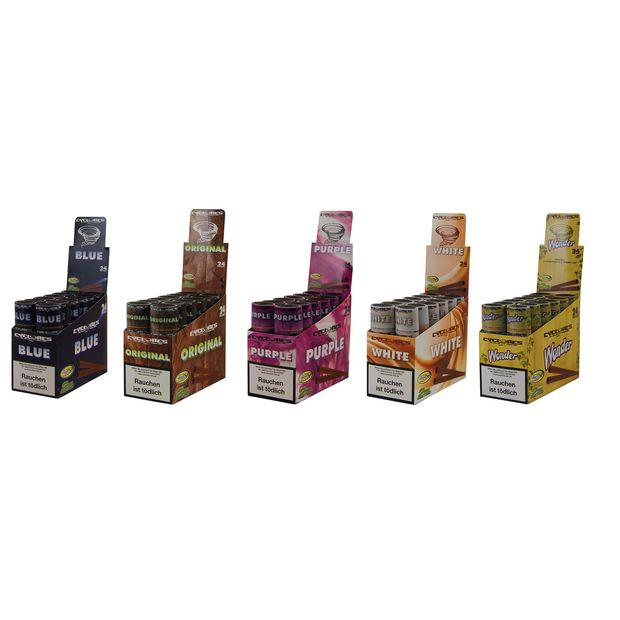 3 Boxes Cyclones King Size Cones pre-rolled 5 Flavours
