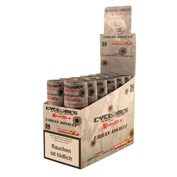 1 Box Cyclones XtraSlo URBAN ASSAULT Cones aromatisiert...