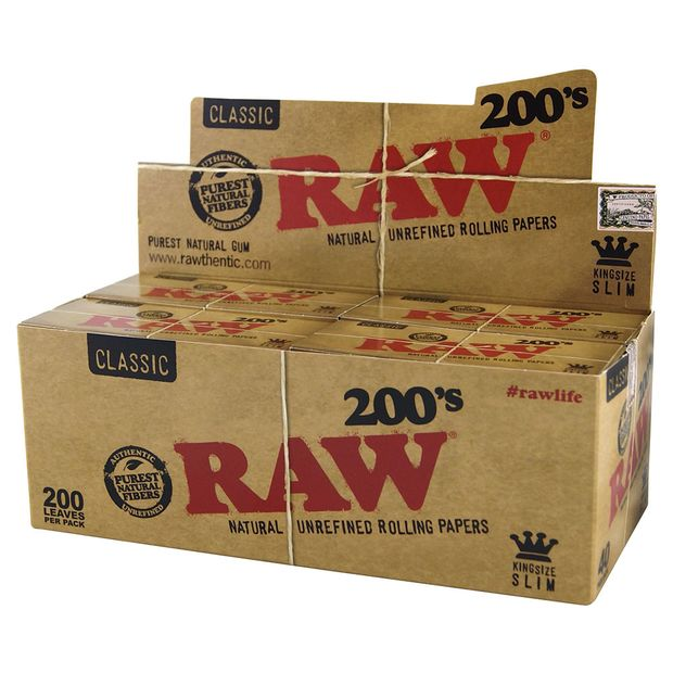 RAW 200s Classic, Natural Creaseless Rolling Papers, 200...