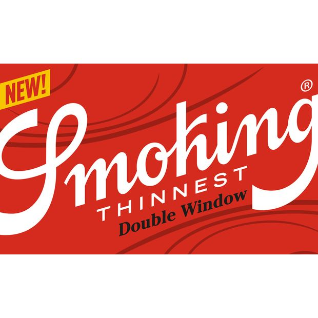 Smoking Thinnest Double Window Blättchen, 120 hauchdünne Papers pro Heftchen