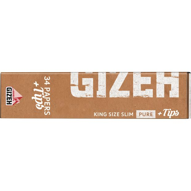 GIZEH Pure King Size Slim Papers+Tips, certified...