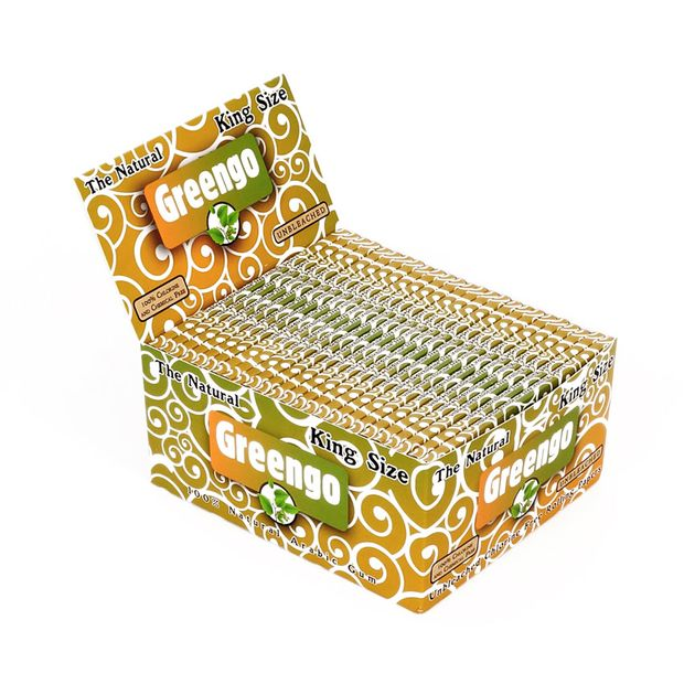 Greengo King Size Papers, 33 unbleached Papers per Booklet
