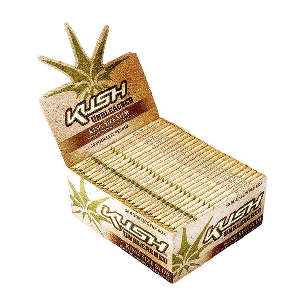 KUSH King Size Slim Papers Unbleached, 50 unbleached...