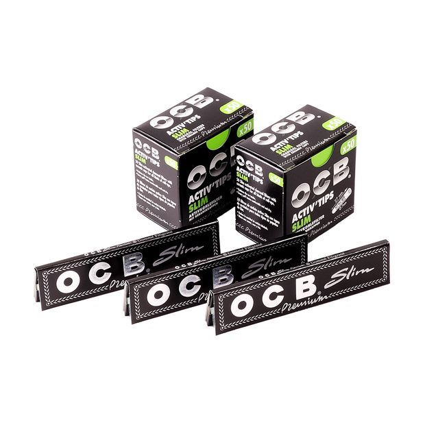 Kombi-Paket mit 3x OCB King Size Slim Papers + 2x OCB...