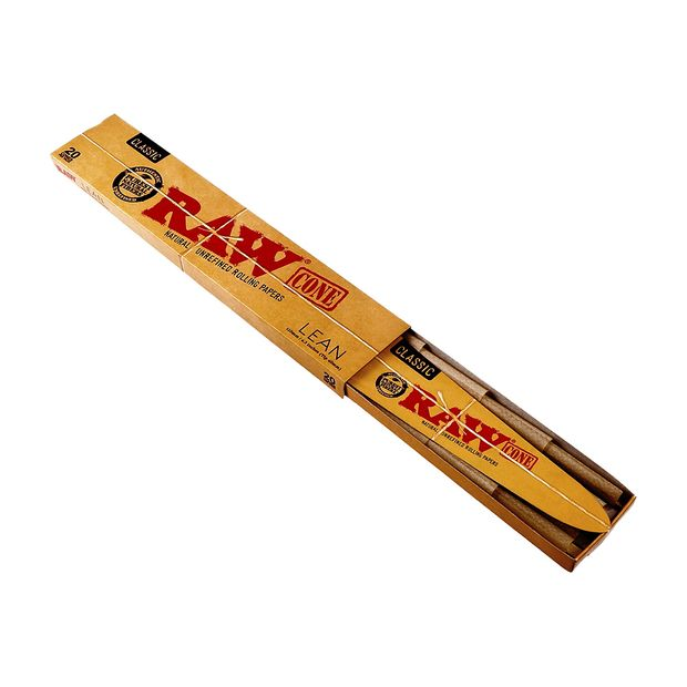 RAW Classic Cone Lean, 20 lean and pre-rolled Cones per Package
