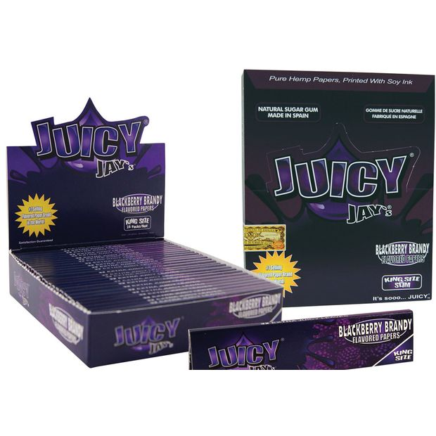 1 Box (24x) Juicy Jays King Size Papers Blackberry Brandy...